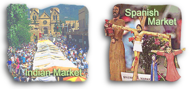 FIESTA: General history and information on Fiesta de Santa Fe (Santa Fe Fiesta). Fiesta events include: Fiesta Melodrama, Pregon de la Fiesta, the Don Diego de Vargas Mass, Entrade de Don Diego de Vargas, Zozobra (burning of Old Man Gloom), Baile de la Gente, La Mierenda de la Fiesta, Desfile de los Ninos (Children's Pet Parade), Grande Baile de la Fiesta, Solemn Procession, Mariachi Mass, Grande Parade (Historical/Hysterical Parade), and the Candlelight Procession to the Cross of the Martyrs. INDIAN MARKET: General history and information on the annual Santa Fe Indian Market. Indian Market Awards, Indian Market Food Vendors, Indian Market Ceremonial Dances. SPANISH MARKET: General history and information on the annual Santa Fe Spanish Market. Spanish Market art categories, Spanish Market Food Vendors, Winter Spanish Market, and the Spanish Colonial Arts Society. ZOZOBRA: General history and information on Zozobra (the burning of Old Man Gloom).